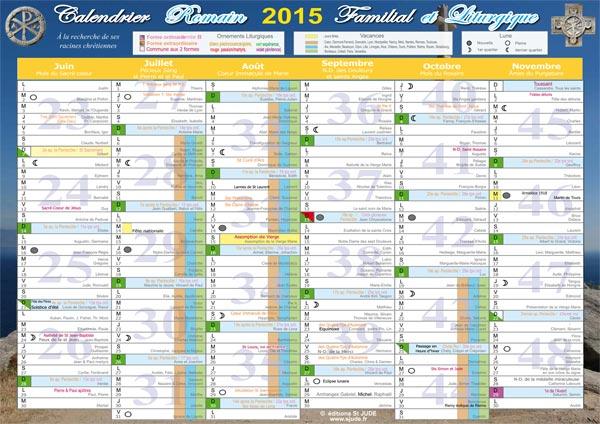 Calendrier romain 2014 liturgique et familial - Date des saint de glace 2017 ...