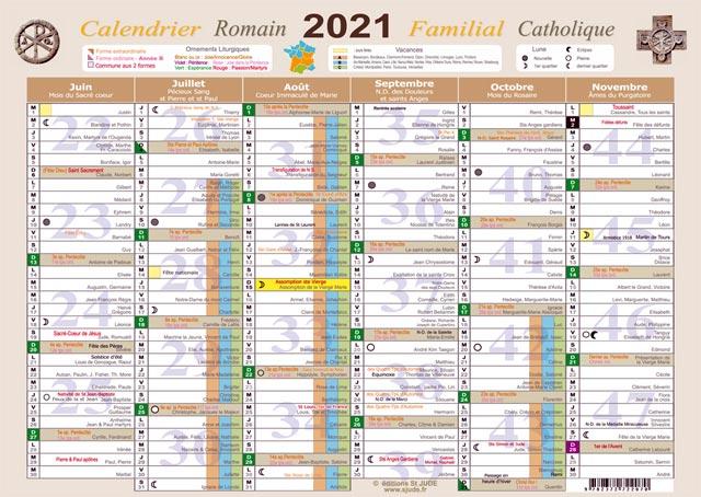 Les Editions St JUDE présentent Calendrier Romain Mural 2021