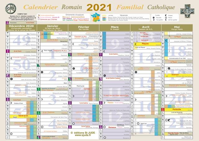 Calendrier Romain Liturgique et Familial