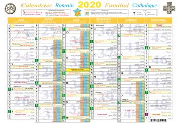 Calendrier Liturgique Catholique 2021 Calendrier Liturgique Catholique 2020 | Calendrier 2020